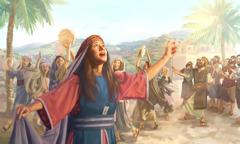 باراق ودبورة يرنِّمان ليهوه