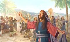 Baraque e Débora cantam cânticos para agradecer a Jeová