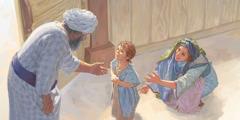 حنة وصموئيل امام عالي في المسكن