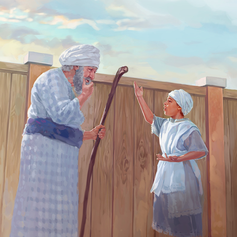 Samuel le da a Elí el mensaje de Jehová