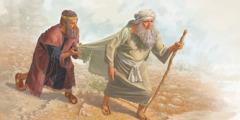 الملك شاول يمسك طرف ثوب صموئيل فيتمزق