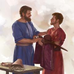 يوناثان يعطي بعض اغراضه لداود