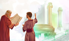 David discusses plans for the temple with young Solomon