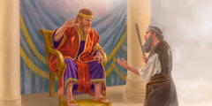 The prophet Nathan counsels King David