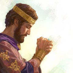 King Solomon prays