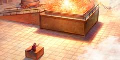 Երկնքից իջած կրակը լափում է զոհասեղանի վրա եղող զոհերը