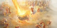 نار من يهوه تأكل ذبيحة ايليا