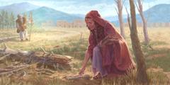Ua valaau atu Elia i le fafine ua oti lana tane o loo fai fafie