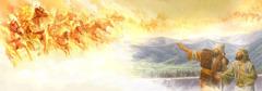 أليشع وخادمه يريان حولهما جيشا من الملائكة