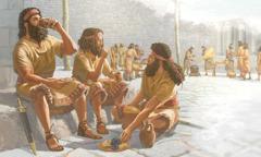 جنود من جيش ارام يأكلون في السامرة