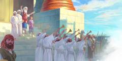 رئيس الكهنة يهوياداع يعلن يهوآش الصغير ملكا امام كل الشعب