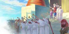 Der Hohe Priester Jehojada stellt dem Volk den jungen König Joas vor