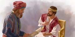 شافان يقرأ درجا على الملك يوشيا