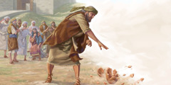 Jeremiah smashes a clay jar in front of the elders