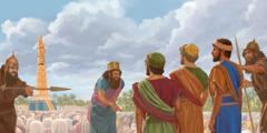 Shadrak, Meshak og Abed-Nego nægter at bøje sig for guldstatuen
