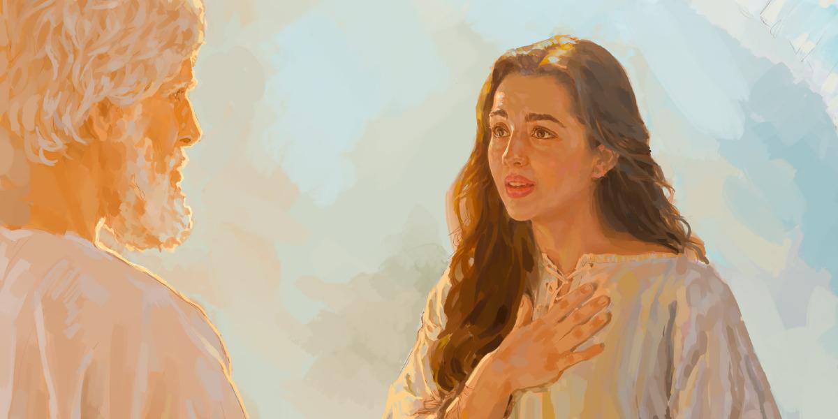 El Angel Gabriel Visita A Maria Lecciones De La Biblia Para Ninos