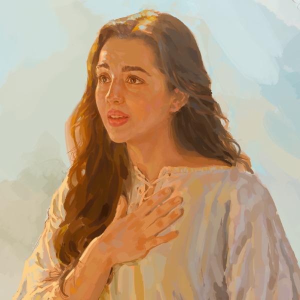 Gabriele fa visita a maria storie della bibbia per bambini