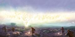 ملائكة يخبرون الرعيان عن ولادة يسوع