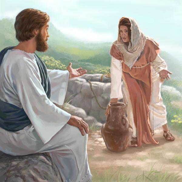 Jesus Und Die Frau Am Brunnen Kinderbibel