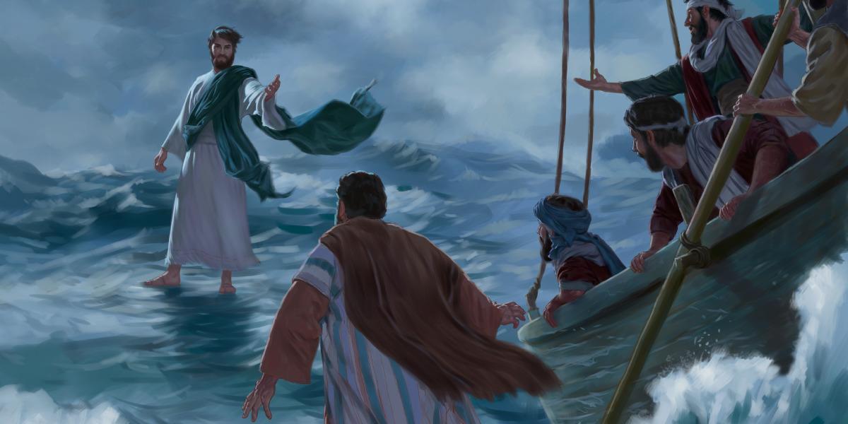 Jesus anda por cima da água | Lições da Bíblia para crianças