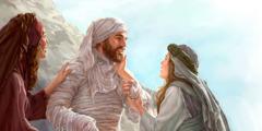 لعازر بعد قيامته مع اختيه مريم ومرثا