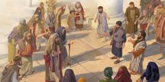 Peter og Johannes forkynder modigt trods modstand fra præsterne og saddukæerne