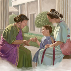 Eunice, Lois, and little Timothy
