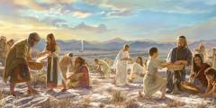 Israeliter samlar manna
