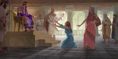 Ο βασιλιάς Σολομών εξακριβώνει την πραγματική μητέρα του μωρού