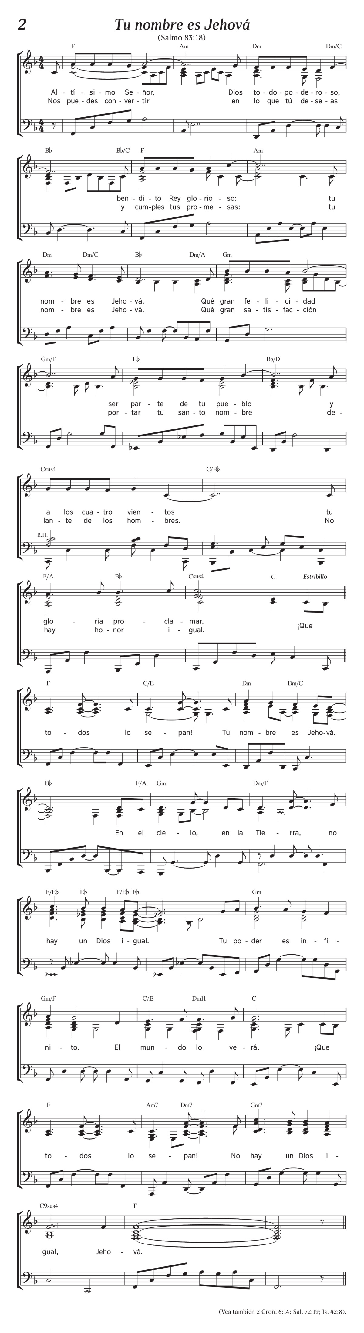 Cantemos A Jehova Pdf