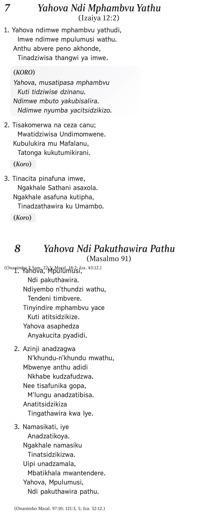Yahova Ndi Mphambvu Yathu
