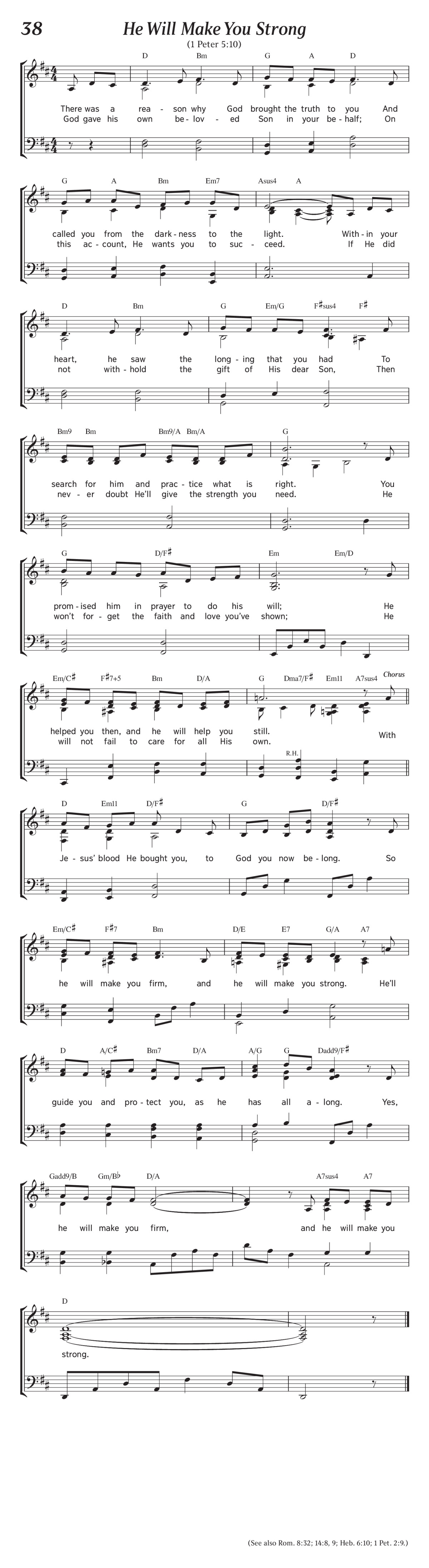 Song 38 He Will Make You Strong Christian Song Find the latest tracks, albums, and images from jw.org. song 38 he will make you strong