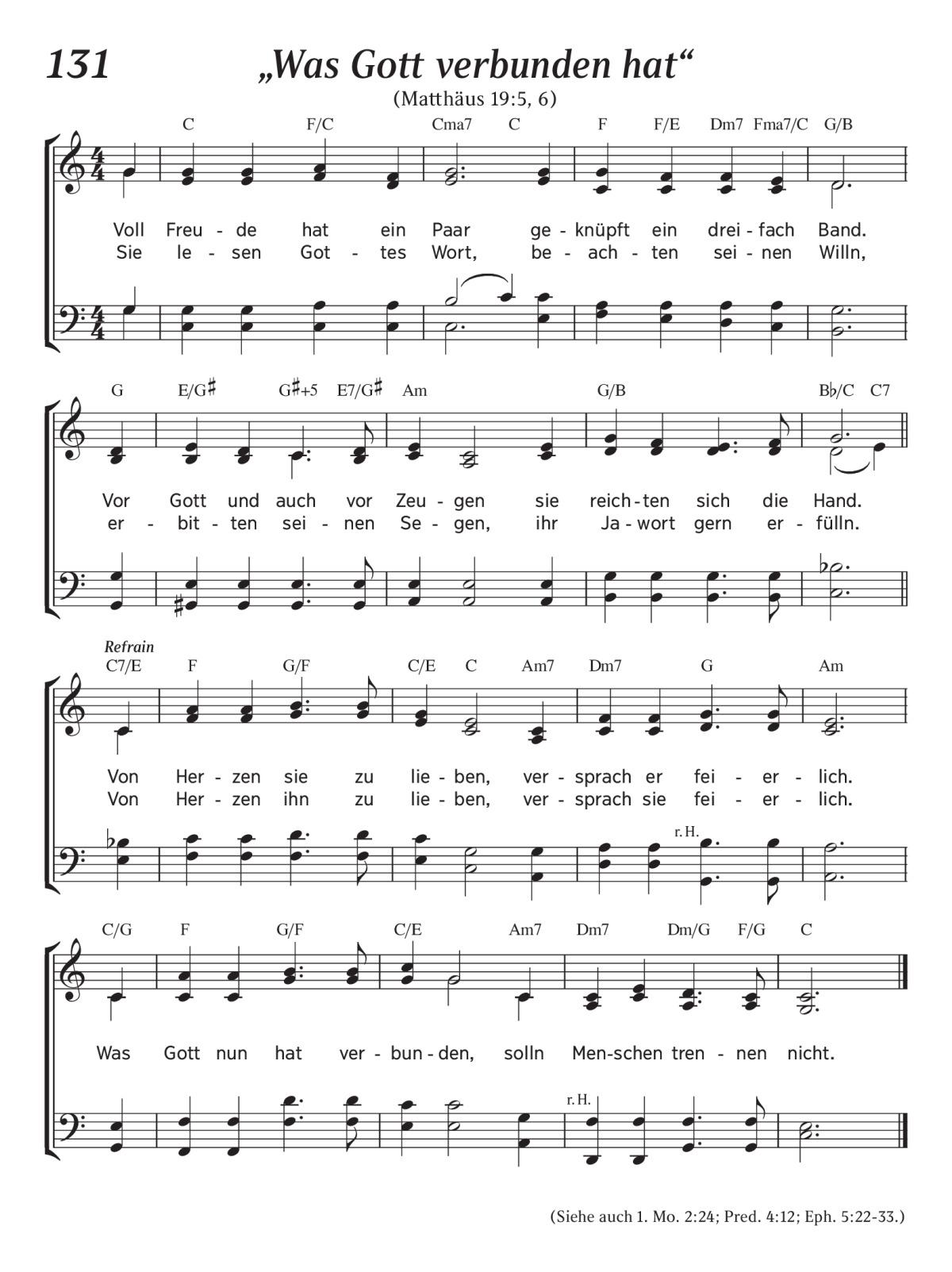 Lieder über das Gehen mit Gott