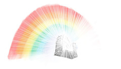 The rainbow surrounding Jehovah's throne, as described in Ezekiel's vision.