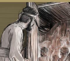 Hesekiel näeb, kuidas Iisraeli soo vanemad toovad ebajumalatele suitsutusohvrit