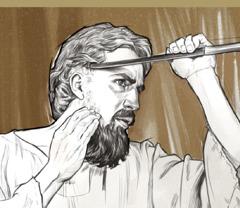 Ê-xê-chi-ên cạo râu và tóc