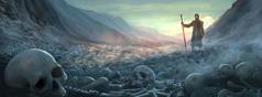 Ezequiel vê o vale de ossos secos