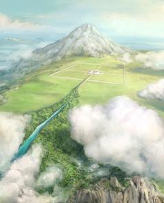 Hesekielin näkemä temppeli hyvin korkealla vuorella ja pyhäköstä lähtevä joki