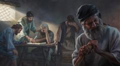 Juutalaisvangit katsovat Hesekielin näkemän temppelin mittoja, ja vilpittömät häpeävät
