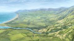 Sebagian dari tanah yang harus dibagikan dalam penglihatan Yehezkiel