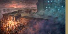 Otpadnički Židovi štuju idola kod sjevernih vrata jeruzalemskog hrama