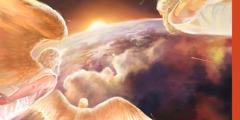 Pada kesengsaraan besar, para malaikat menuju bumi dan siap untuk berperang