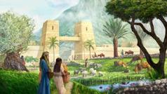 Ezékiel látomásában az izraeliták különféle munkákat végeznek a városban és a város körül