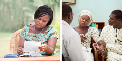 Una germana prepara una declaració de voluntats anticipades imés tard parla amb el seu metge