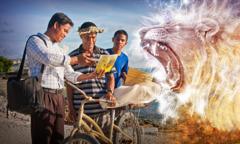 Brat przeciwstawia się Szatanowi, biorąc udział wdziałalności głoszenia