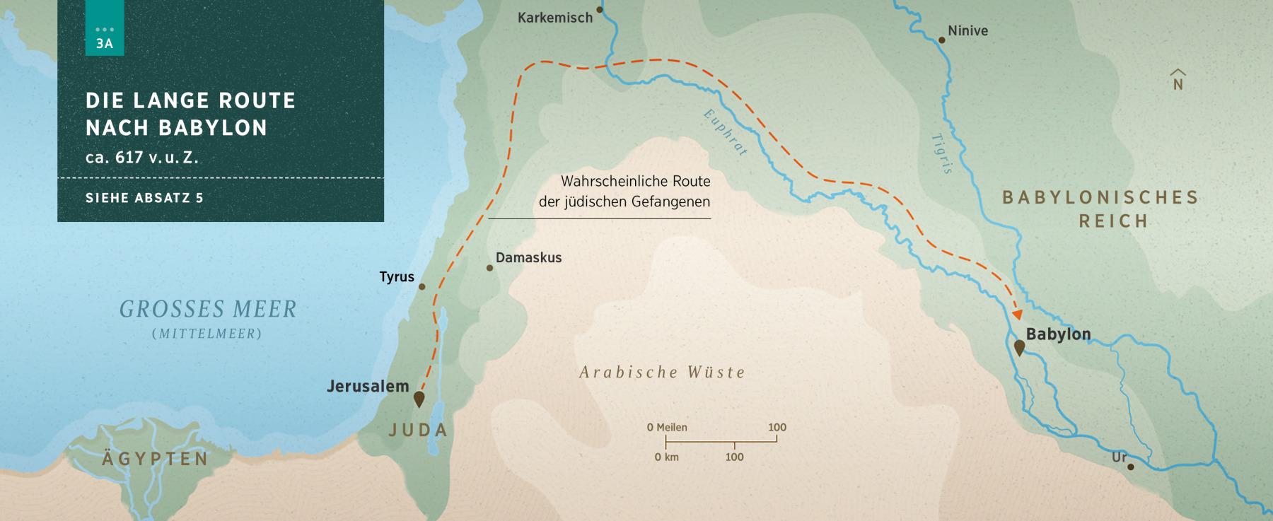 Babylon Karte.Gefangenschaft In Babylon Karte Der Route Jerusalem Babylon