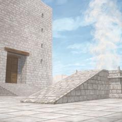 O altar no templo de Jeová