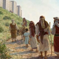 Judeus caminham de volta para Jerusalém