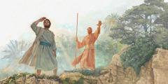 Malaika mwenye kuongoza Ezekieli anamuonyesha maeneo ya uriti ya inchi