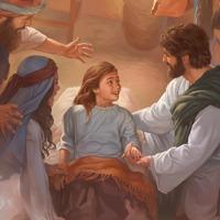 Jesus ressuscita a filha de Jairo